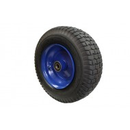 Pneumatic Black Steel Wheel 420mm diameter x 155mm width