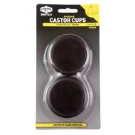 CASTOR CUPS FELT-BASED 60MM ROUND PK4