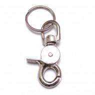KEY RING TRIGGER METAL SNAPHOOK 65MM W/25MM SPLIT RING