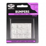 BUMPERS SQUARE CLEAR 13X3MM PK12