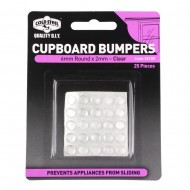 CUPBOARD BUMPERS ROUND CLEAR 6X2MM PK25