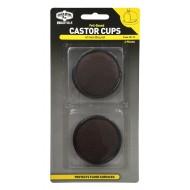 CASTOR CUPS FELT-BASED 41MM PK4