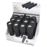 Torch LED, Black, 1W with Zoom Display Box
