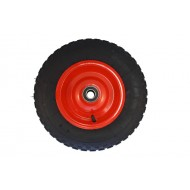 Pneumatic Wheel Steel Rim 400mm x 100mm Chunky Tread