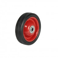 RED WHEEL RUBBER TYRE 125MM