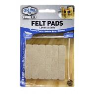 Felt pads Heavy Duty - 13mm x 66mm strips x 12pcs