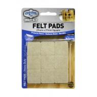 Felt pads Heavy Duty - 27mm x 27mm square x 18pcs