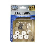 Felt pads Heavy Duty - 20mm round screw-on x 8pcs